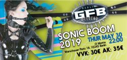 Ticket(s) for the GFB SonicBoom May, 30th 2019
